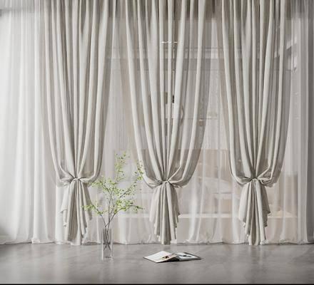 现代纱窗窗帘