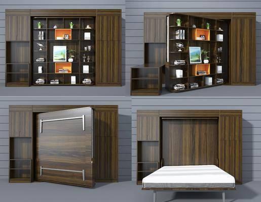 双人床, 装饰柜, 摆件, 装饰品, 陈设品, 现代