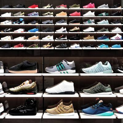 男鞋女鞋, 运动鞋, 展示架组合, 现代