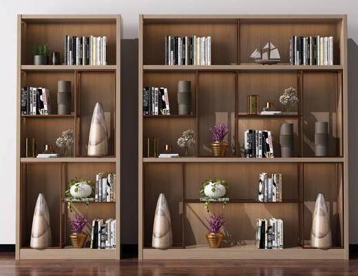 书柜, 装饰柜, 酒柜, 陈列柜, 书架, 装饰品, 陈设品, 北欧