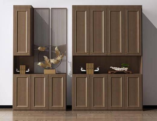 鞋柜, 玄关柜, 装饰柜, 隔断柜, 摆件, 装饰品, 陈设品, 新中式