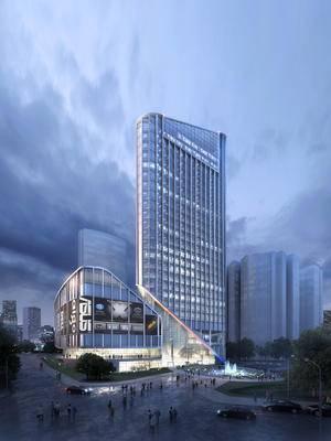 现代, 玻璃大楼, 大厦