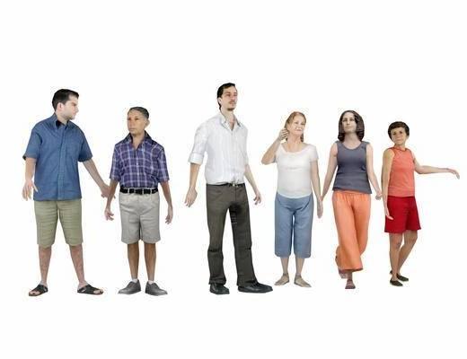人物, 服饰, 男人, 女人, 现代