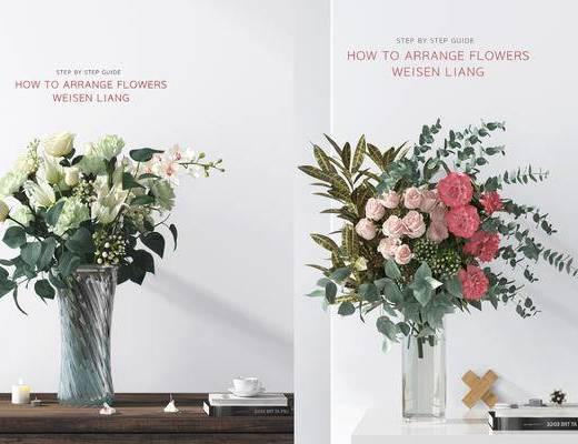 花卉, 花束, 花瓶, 花草