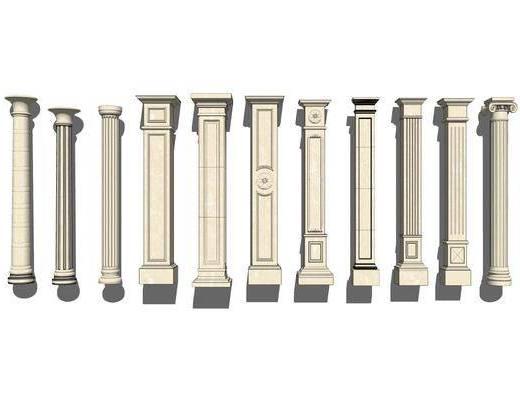 石膏柱, 罗马柱
