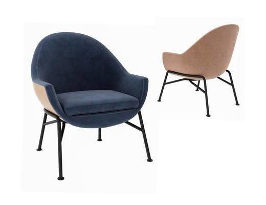 现代, 简约, 休闲椅, 单椅