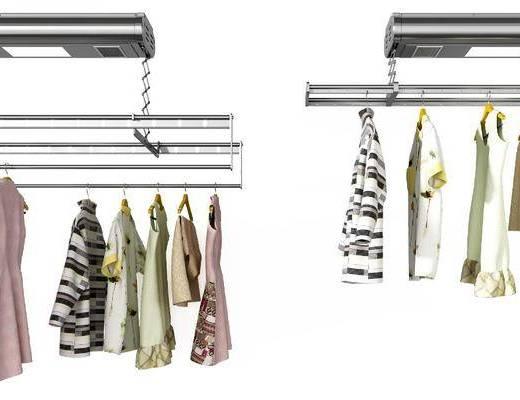 衣架組合, 智能晾衣架, 衣架服飾, 現代