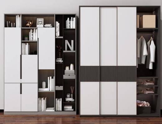 衣柜, 装饰柜, 书柜, 柜架组合, 摆件组合