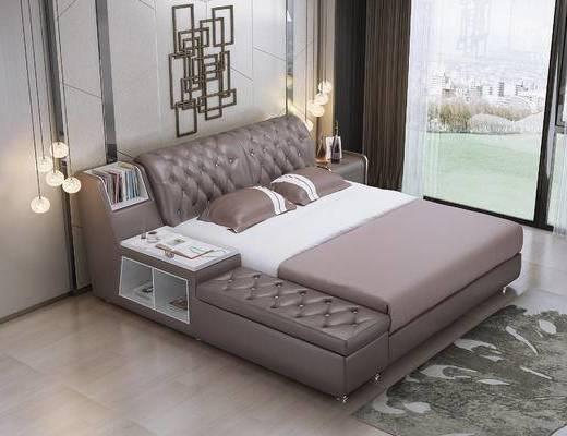 现代卧室现代双人床