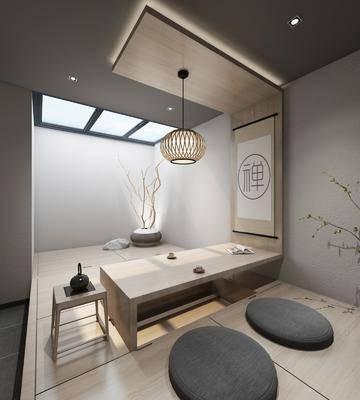 新中式茶室, 茶室, 中式茶室, 茶馆, 茶桌