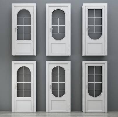 门, 单开门, 卧室门, 现代房间门, 实木门, 卫生间门, 木质门