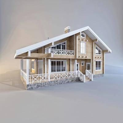 别墅, 现代楼房, 现代别墅, 楼房, 现代