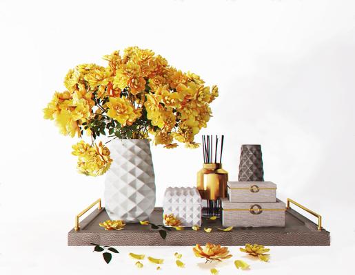 花瓶, 摆件组合, 植物