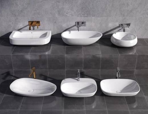 现代, 洗手盆, 台盆, 单体