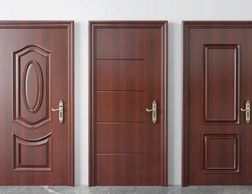 实木门, 房门, 入户门, 新中式入户门, 平开门