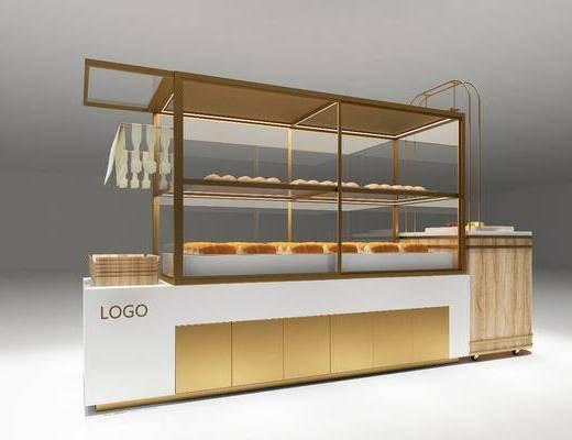 面包柜, 展示柜, 面包, 现代