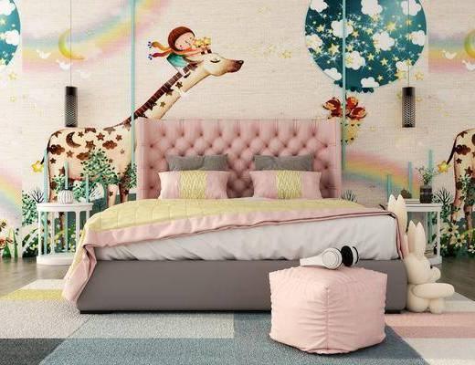 現代兒童床, 兒童床, 女孩床, 雙人床