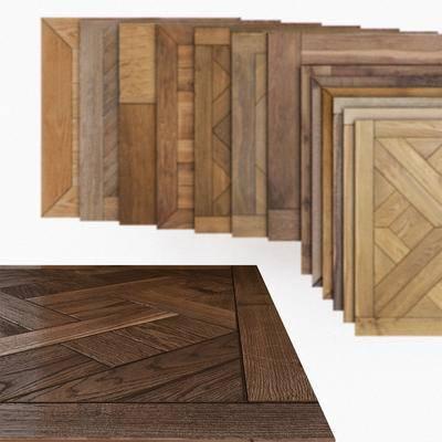 现代, 地板, 木地板, 板材