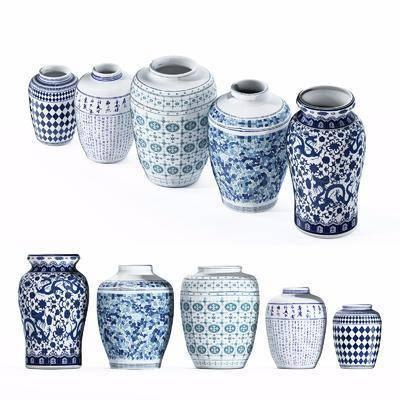 青花瓷, 新中式, 陶瓷