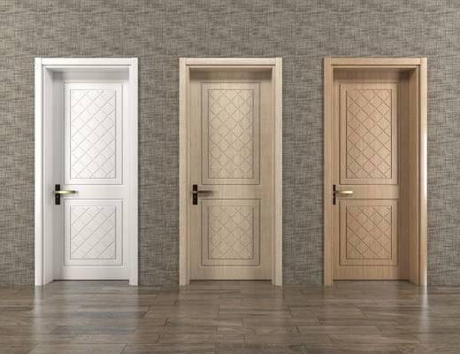 室内门, 房门, 门, 简欧, 现代