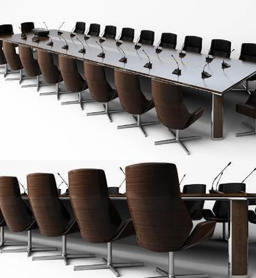 会议桌, 办公椅, 现代, 话筒