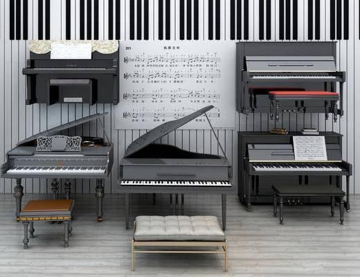 美式钢琴, 现代钢