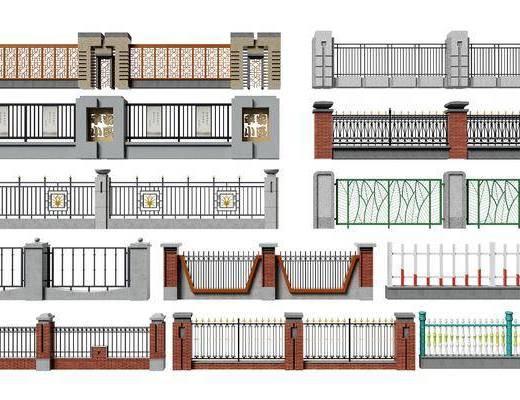 现代围墙, 围墙, 围栏