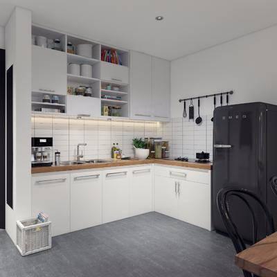 北欧厨房, 厨房, 厨房橱柜