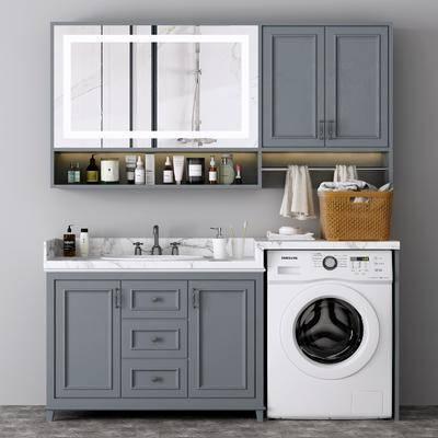 洗浴组合, 洗衣机, 电器, 洗衣柜