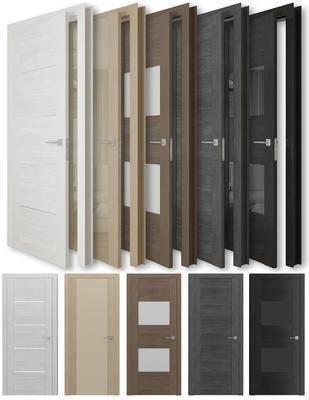 实木, 门, 现代, 门板, 木门
