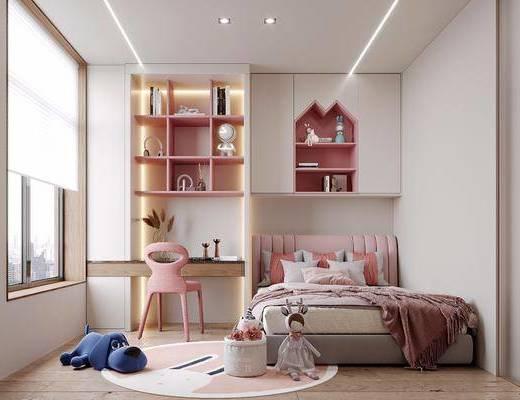 现代, 儿童房, 卧室, 家装