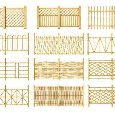围栏, 竹子, 护栏, 中式, 中式围栏