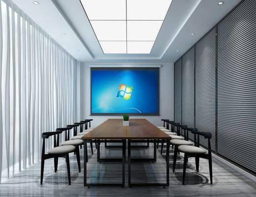 会议室, 单人椅, 现代