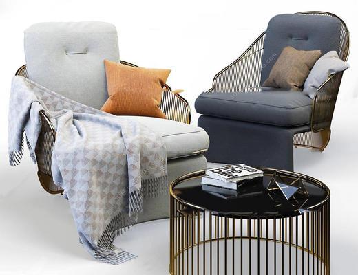 美式简约, 沙发组合, 沙发茶几组合