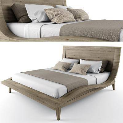 双人床, 简约, 木质, 花纹, 现代双人床, 北欧双人床, 现代