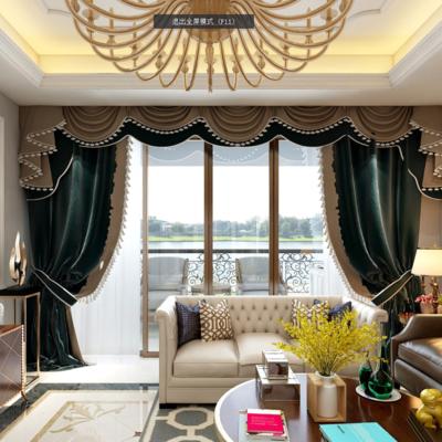 简欧, 欧式, 客厅, 欧式沙发, 沙发组合, 吊灯