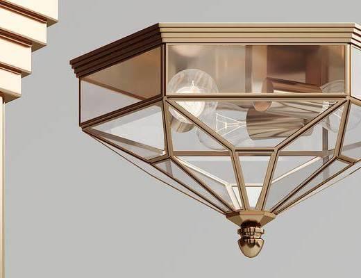 現代, 金屬, 吸頂燈