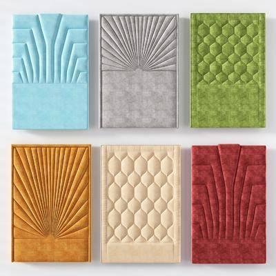 墙饰, 造型墙, 软包, 硬包, 现代