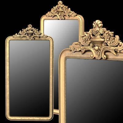 镜子, 欧式镜子, 金属