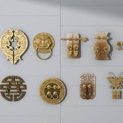 中式, 五金件, 门锁