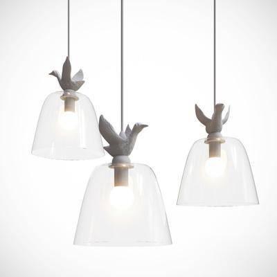 吊灯, 玻璃, 小鸟, 工艺, 现代