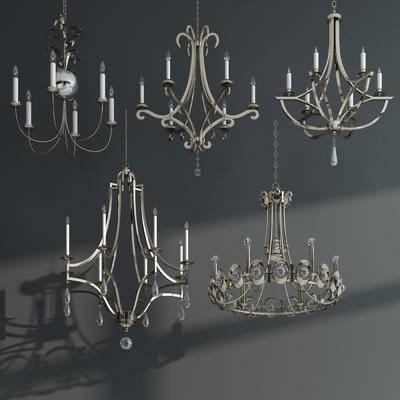 吊灯, 水晶灯, 欧式, 烛光灯, 后现代