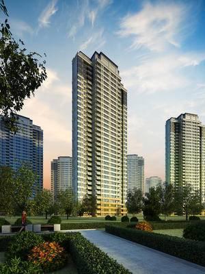 建筑, 高层建筑, 园林建筑, 户外, 树木, 商品楼, 楼盘