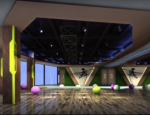 健身房, 瑜伽球, 现代