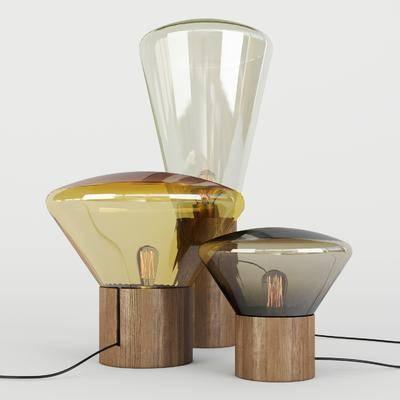 现代创意台灯, 现代, 台灯, 玻璃台灯