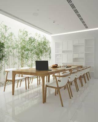 茶室, 桌椅組合, 植物, 辦公桌, 電腦桌