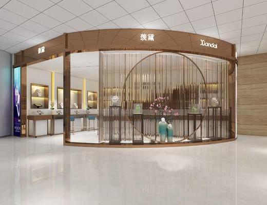 珠宝店展厅, 现代商场, 工装