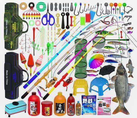 现代, 钓具, 装备, 组合