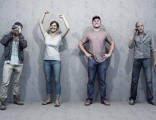 人物组合, 多人, 男人, 现代