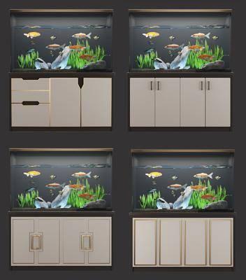 鱼缸, 现代鱼缸, 鱼, 现代